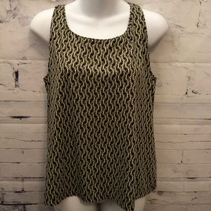 Tops - Green & Black slinky Tank Top